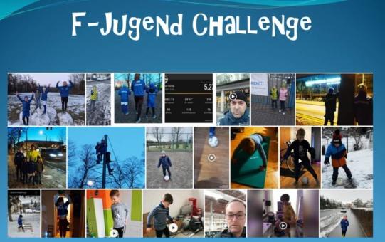 F-Jugend hält sich fit mit einer Challenge